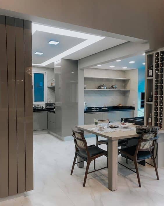 cozinha-cozinha moderna-cozinha elegante-cozinha com piso branco-cozinha com piso de marmore