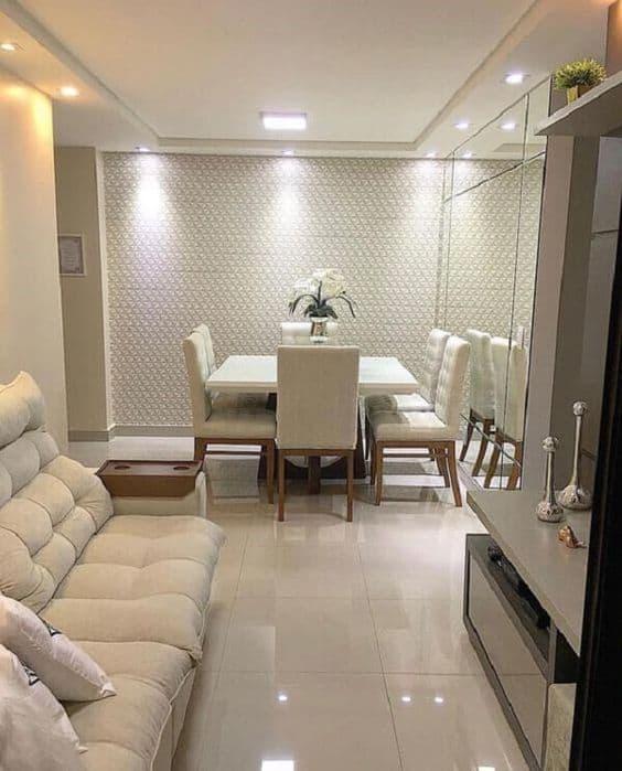 sala de estar-sala de jantar-sala de estar com porcelanato-sala de jantar com porcelanato