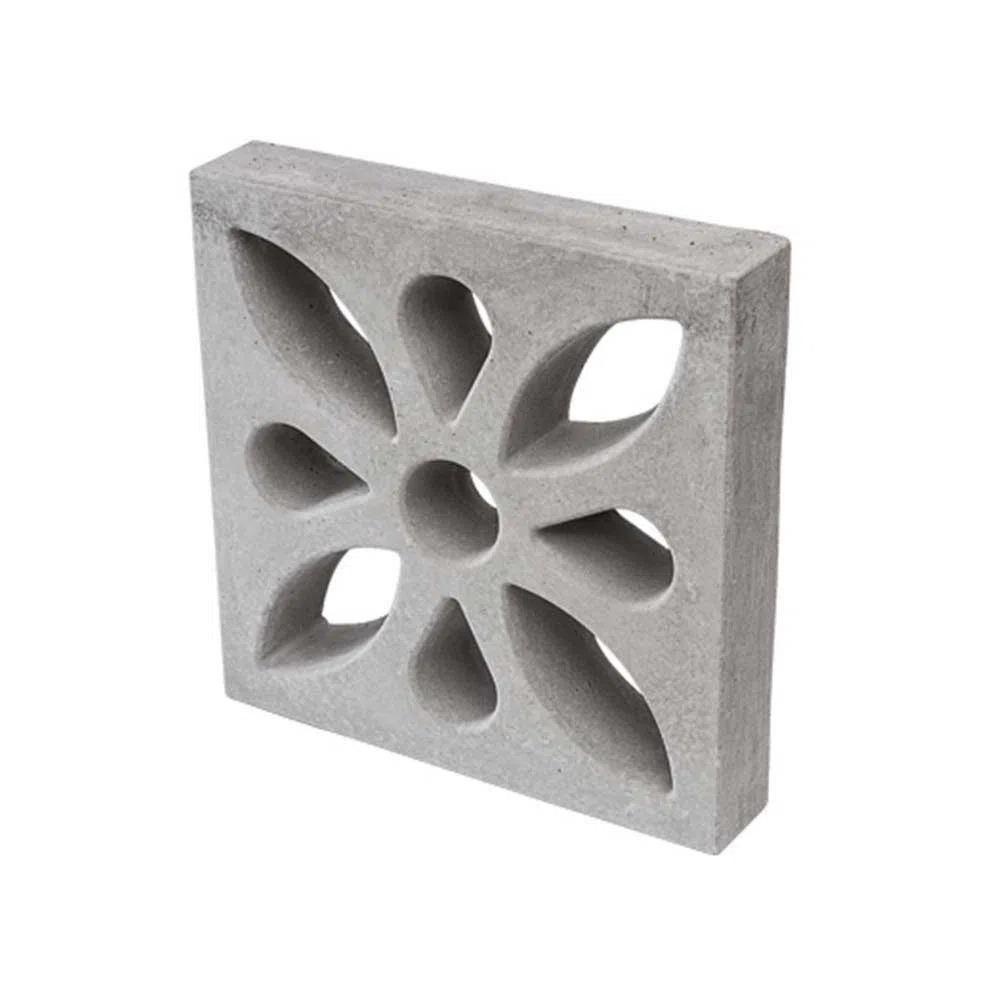 Elemento-vazado-Cobogo-Flor-concreto-39x39x7cm-cinza-Ecobloco