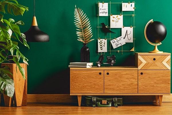 parede-tinta-verde-escuro