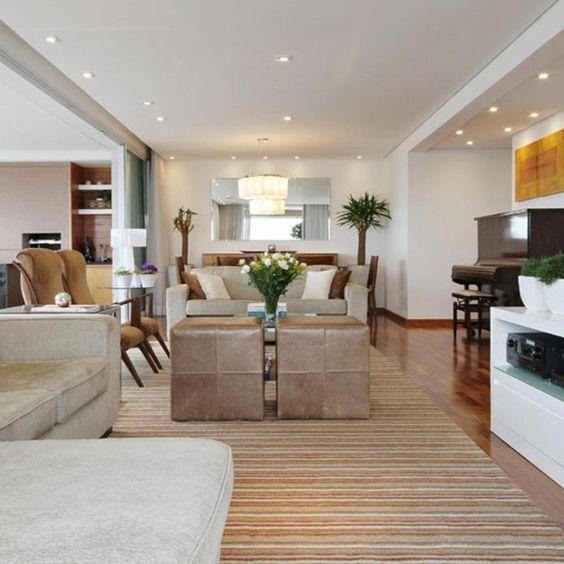 sala-de-estar-com-spot-de-embutir-iluminação