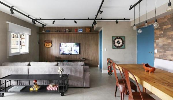 sala-de-estar-spot-trilho-de-correr-iluminação