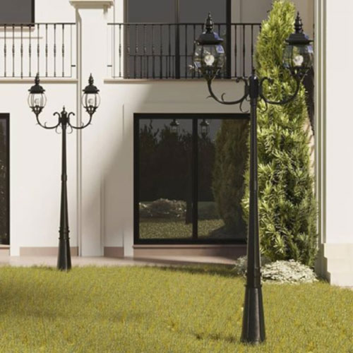 poste-para-jardim-colonial-duplo-aluminio-injetado-com-vidro-bisote
