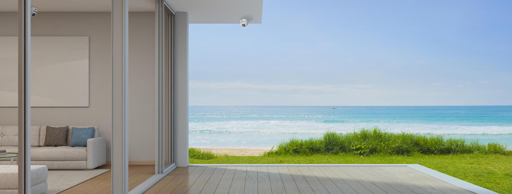 casa-praia-quintal-decoracao-decor-cores-organizacao-maresia-madeira-porcelanato-sofa-sala-estar-janela-mar