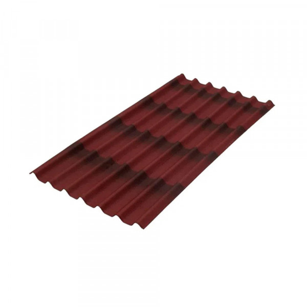 Telha-ondulada-betuminosa-195x96cm-3mm-Stilo-3D-vermelha-Onduline