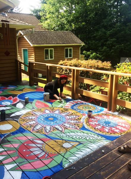 piso-madeira-pintado-colorido