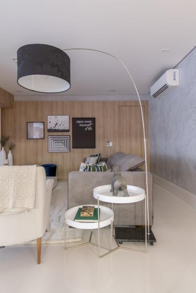 Sala-de-estar-luminária-de-piso