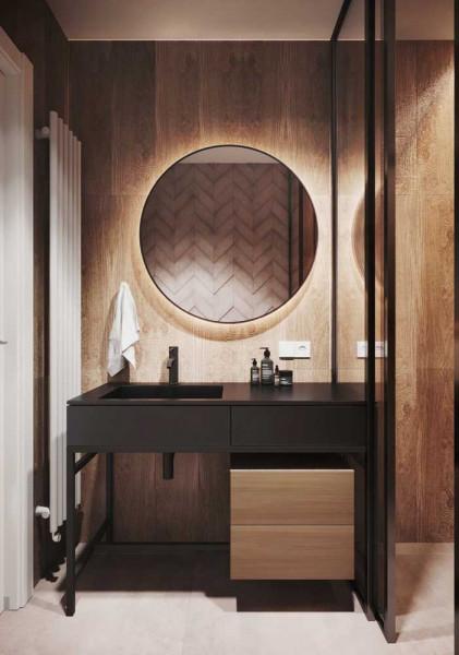 espelho redondo-espelho com led-banheiro-inspiracao de banheiro