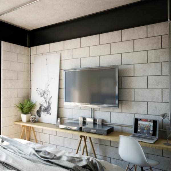 parede concreto estilo industrial