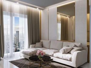sala de estar-parede de espelho sala de estar-espelho sala de estar-inspiracao sala de estar