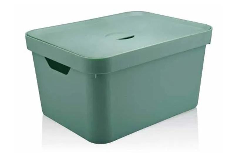 Caixa-organizadora-Cube-32L-grande-com-tampa-verde-menta-OU