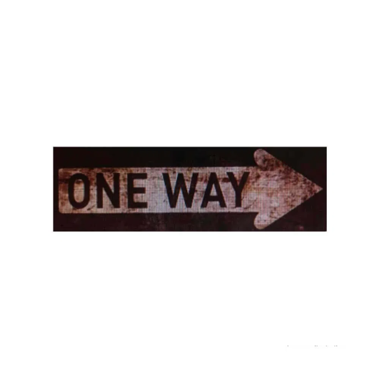 Placa-decorativa-One-Way-10x30cm-Infinity