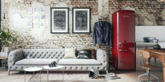 geladeira-vermelha-sala-de-estar