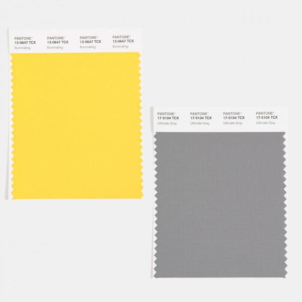 amostras-pantone-cores-cor-ano-2021-illuminating-amarelo-ultimate-gray-cinza