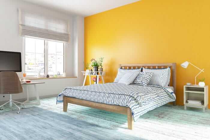 parede-amarela-decor-quarto-decoracao-cinza-luz-janela